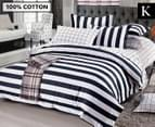 Ardor Buckley KB Quilt Cover Set - Black 1
