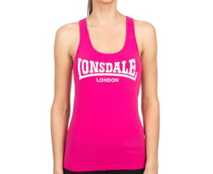 Lonsdale Women's Derwent Tank - Hot Rose