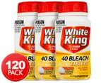3 x White King Bleach Tablets Lemon 40pk 1