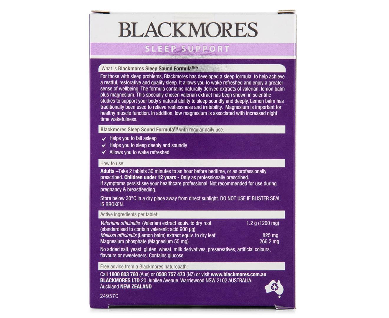 2 x Blackmores Sleep Sound Formula 30 Tabs