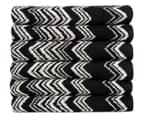 Missoni Home Keith 40x70cm Hand Towel 6-Pack - Black/Beige 1