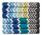 Missoni Home Rufus 40x70cm Hand Towel 6-Pack - Blue/Green 1