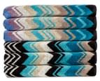 Missoni Home Giacomo 40x70cm Hand Towel 6-Pack - Violet/Turquoise 1