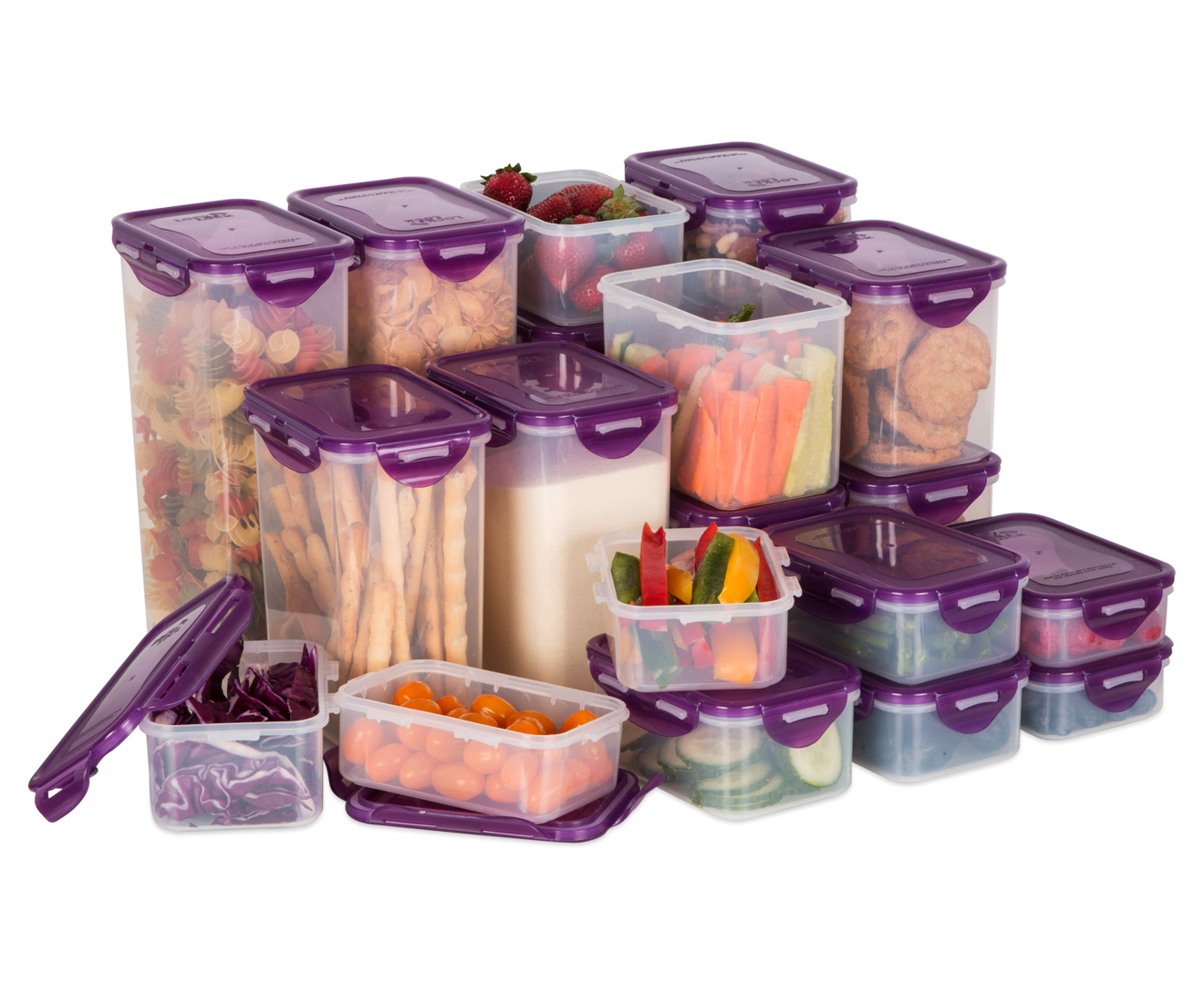 Lock & Lock Classic Pantry 20-Piece Set - Purple   Catch ...