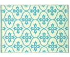 Cross 180x120cm Recycled Outdoor Rug - Blue/White 2