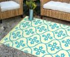 Cross 180x120cm Recycled Outdoor Rug - Blue/White 4