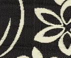 Flower 180x120cm Recycled Outdoor Rug - Black/White 5