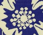 Floral 180x120cm Recycled Outdoor Rug - Navy/White 5