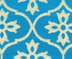 Cross 180x120cm Recycled Outdoor Rug - Blue/White 5