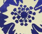 Floral 180x120cm Recycled Outdoor Rug - Navy/White 6