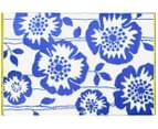 Floral 180x120cm Recycled Outdoor Rug - Navy/White 2