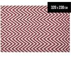 Kesa 320x230cm Chevron Rug - Red 1