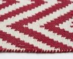 Kesa 320x230cm Chevron Rug - Red 4