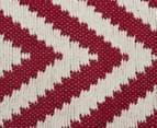 Kesa 320x230cm Chevron Rug - Red 5