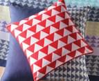 2 x Mod By Linen House 45x45cm Samson Cushion Cover - Red/White 2