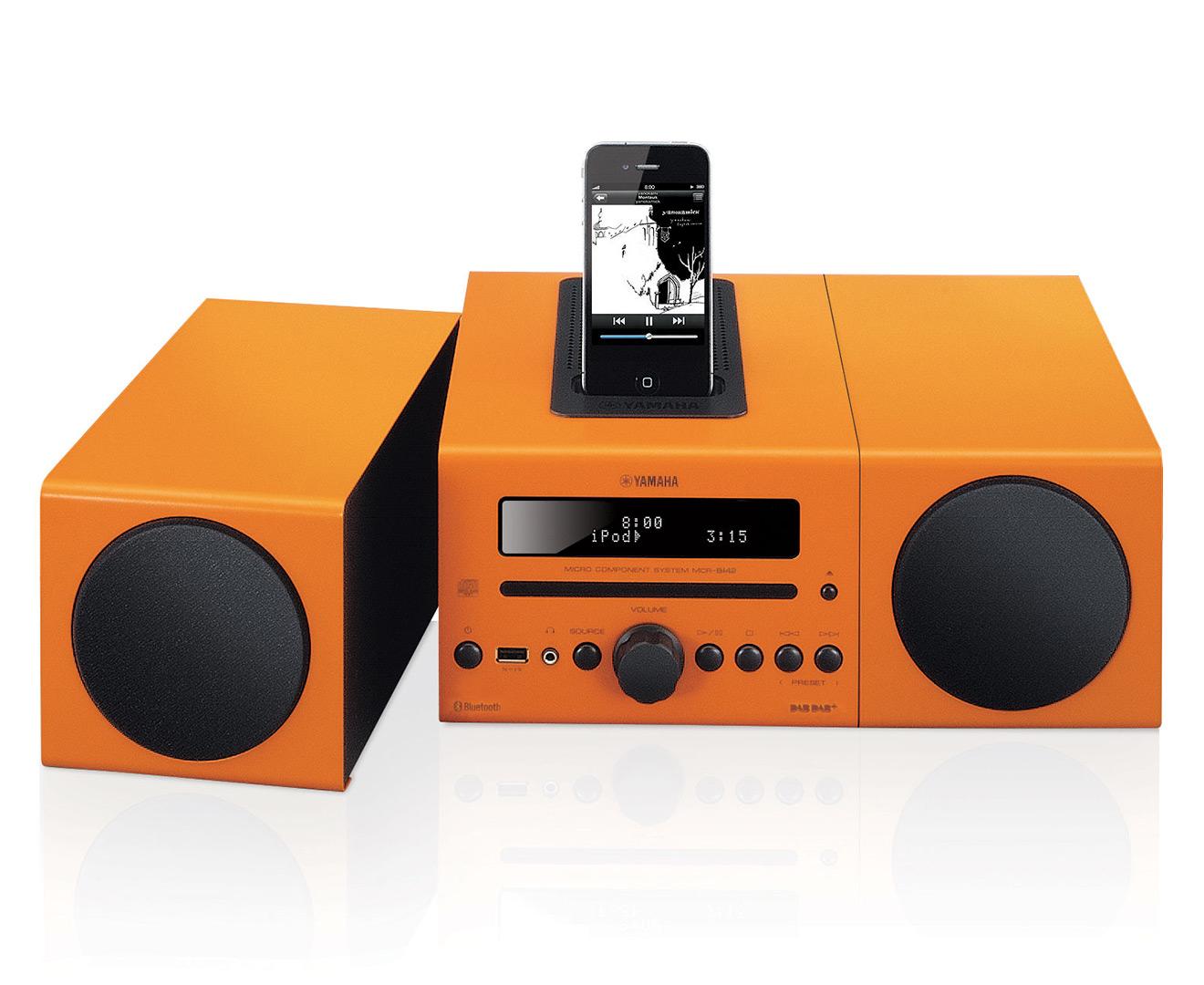 yamaha mcr b142 micro component system orange scoopon shopping. Black Bedroom Furniture Sets. Home Design Ideas
