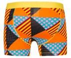Happy Socks Men's Multi Triangle Jersey Boxer Brief - Orange/Multi 2