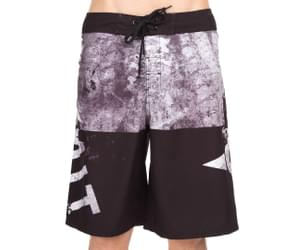 Unit Men's Marked Boardshort - Black/Grey