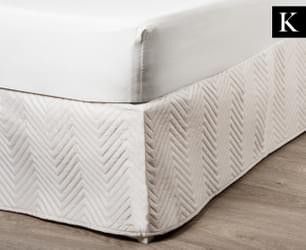 Linen House Sienna KB Quilted Valance - Bone