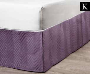 Linen House Sienna KB Quilted Valance - Grape