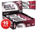 10 x Musashi Bulk Mass Gain Bars Berry 80g 1
