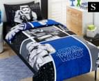 Kids' Star Wars Movie Storm Trooper Single Quilt Cover Set - Blue/Black 1