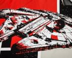 Kids' Star Wars Movie SW7 Patch Single Quilt Cover Set - Black/Red 3