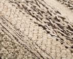 Cut & Loop Mix 80x50cm Hand-Loomed Rug - Beige 5