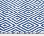 Diamond 220x150cm Dreamy Cotton Flatweave Rug - Navy 3