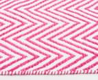 Dreamy Cotton Flatweave 220x150cm Reversible Rug - Pink 3