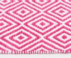 Dreamy Cotton Flatweave 270x180cm Reversible Rug - Pink 3