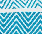 Dreamy Cotton Flatweave 270x180cm Reversible Rug - Turquoise 5