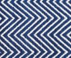 Chevron 270x180cm Dreamy Cotton Flatweave Rug - Navy 4