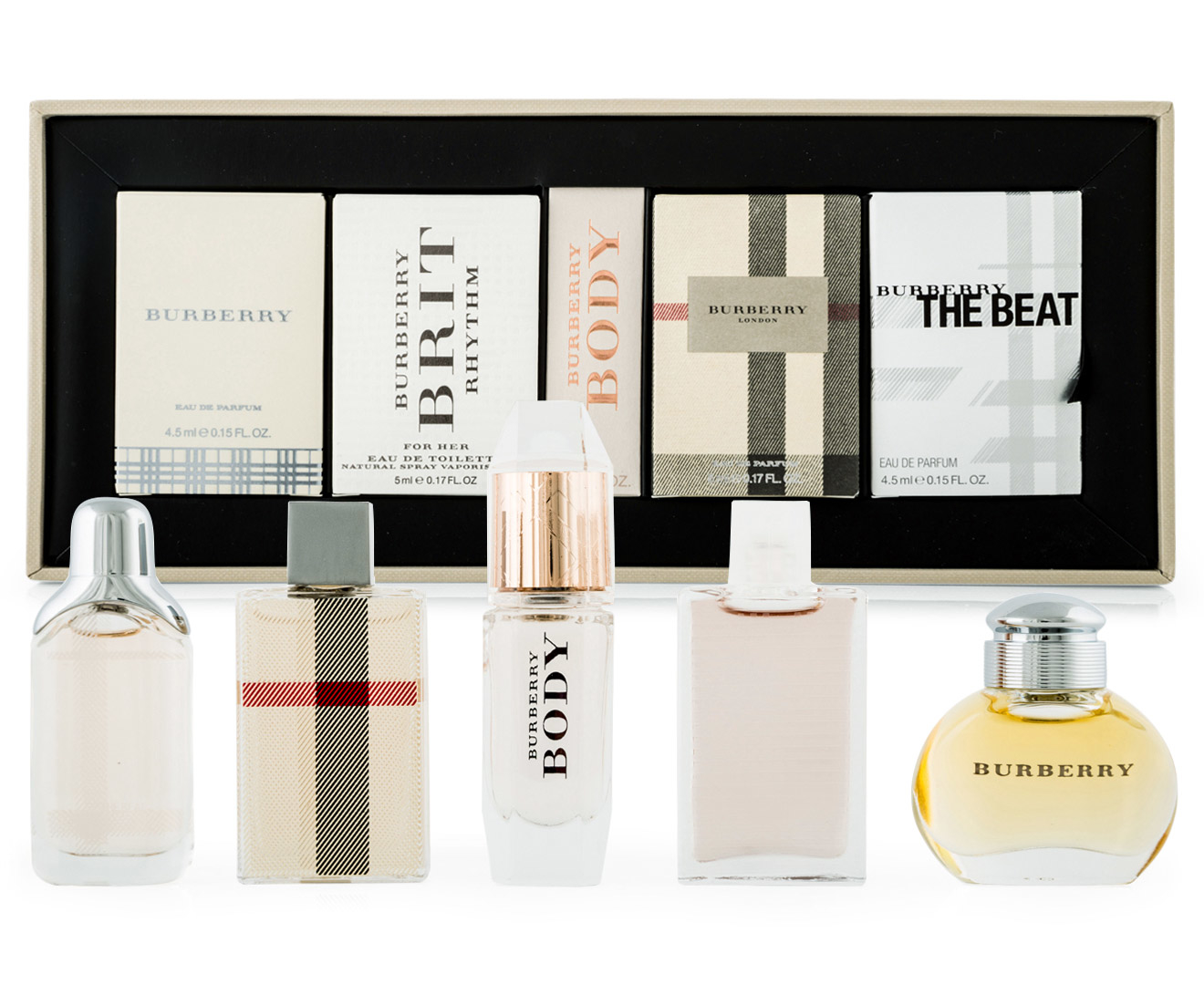 Burberry Miniature Collection 5 Piece Gift Set Great