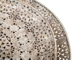 Set Of Two Vintage Style Round Platters - Antique Rust 5