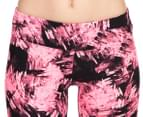 Calvin Klein Performance Women's Carbonite Print Crop Tight - Pink/Black 3