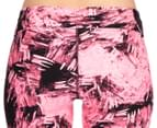 Calvin Klein Performance Women's Carbonite Print Crop Tight - Pink/Black 4
