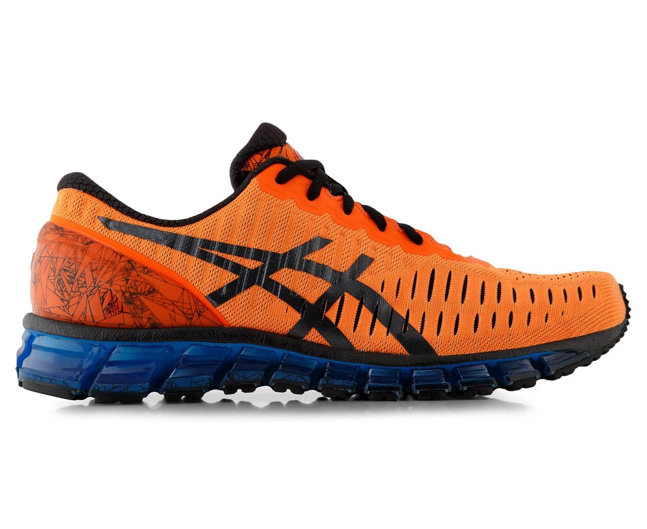 Asics Gel De Los Hombres-cuántica 360 Zapatos - Naranja Caliente / Negro / Azul hWDpQm