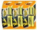 3 x BiC Brite Liner XL Grip Fluorescent Highlighter 2-Pack - Yellow 1