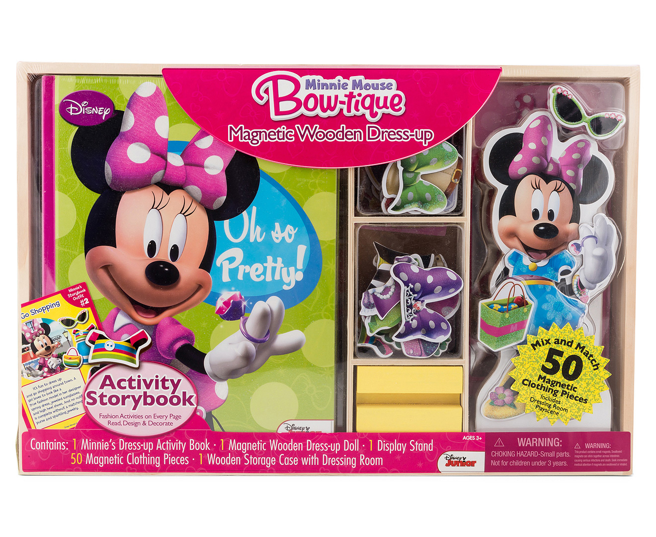 Disney Minnie Mouse Bow-Tique Magnetic Wooden Dress-Up   Great daily ...