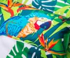 Retro Home Tropica Single Quilt Cover Set - Green 6