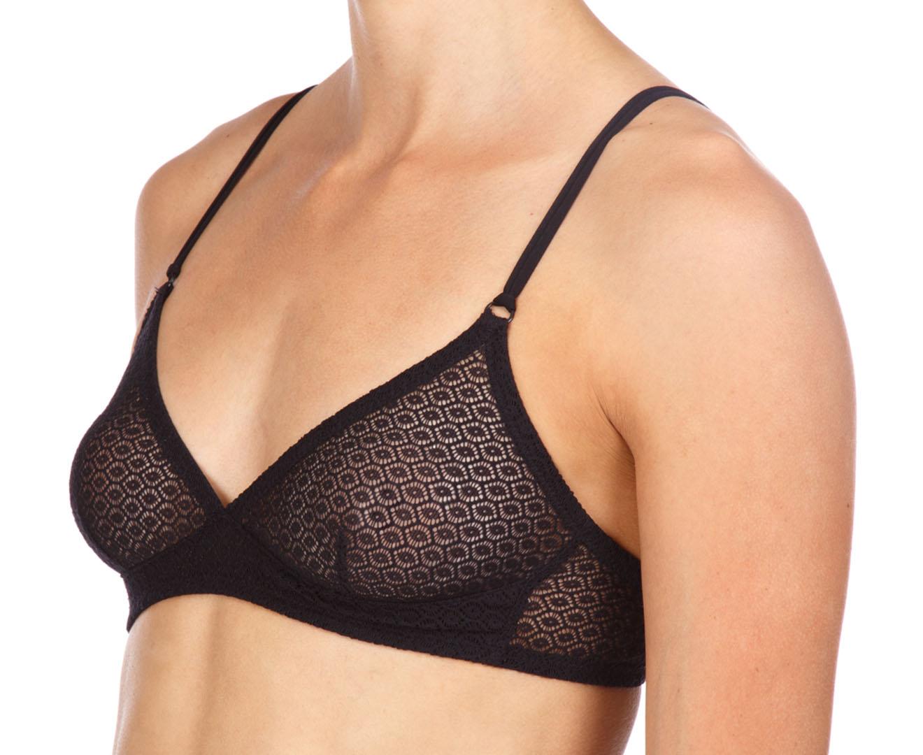 fc32793cad9 American Apparel Women s Lace Geo Bralette - Black