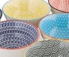 Cooper & Co. 6Pc New Urban Textured 12cm Bowls - Assorted 5