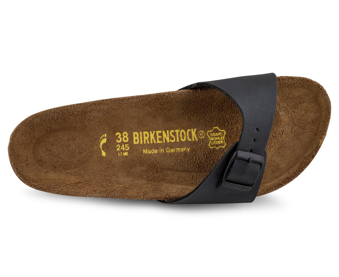 Narrow Birkenstock Sandal Unisex Fit Black Madrid rCoshBtQxd