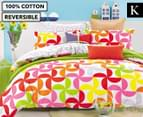 Gioia Casa King Bed Summer Quilt Cover Set - Multi 1