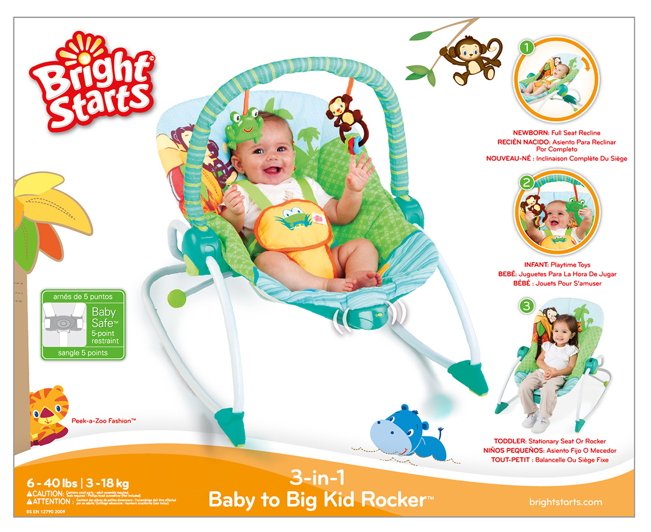 Toys For Tots Letter Head : Bright starts in peek a zoo rocker scoopon shopping