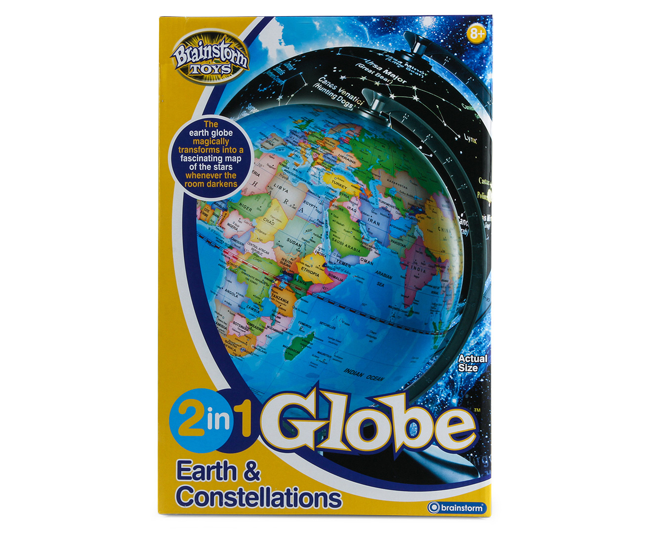 6415c246c904 Brainstorm Toys 2-in-1 Earth & Constellations Globe