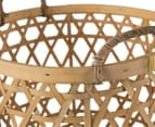 Set of 3 Nested Bamboo Storage Baskets - Natural 5