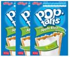 3 x Kellogg's Pop-Tarts Frosted Apple Blast 400g 1