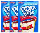 3 x Kellogg's Pop-Tarts Frosted Strawberry Sensation 400g 1